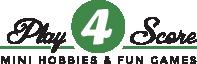 """Atpūtas un sporta minigolfa laukumi Rīgā – Mežaparkā """"play4score"""" Logo"""